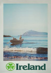 Fishing, Ireland.  Irish Travel Poster